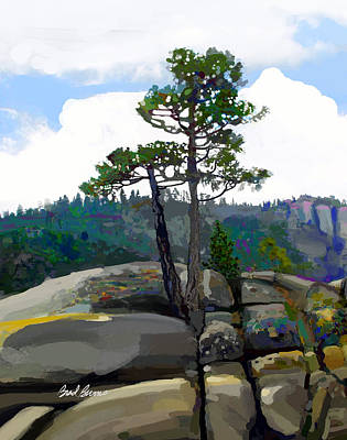 Cedars Painting - Persistence Tree by Brad Burns