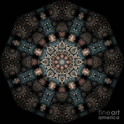 Art Print featuring the digital art Persnickety Palpitations Of Magnificent Malformations by Rhonda Strickland