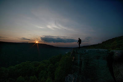 Photograph - Person On Rock At Sunset by Dan Friend