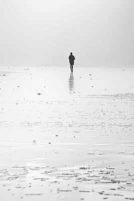 Person Running On Beach Art Print