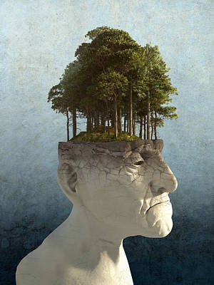 Surreal Digital Art - Personal Growth by Cynthia Decker