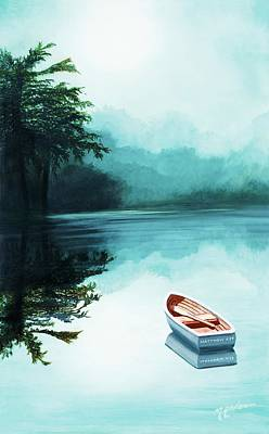In The Morning Mist, You Can Personalize It Art Print by Mary Grden's Baywood Gallery