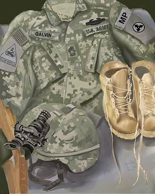 Mixed Media - Personalized Art Designed By A Soldier For A Soldier Retiring Or Pcsing   by Lee Hood