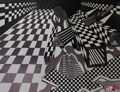 Perspective Checkered Boxes Original