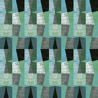 Digital Art - Perspective Compilation With Wood Grain And Teal by Michelle Calkins