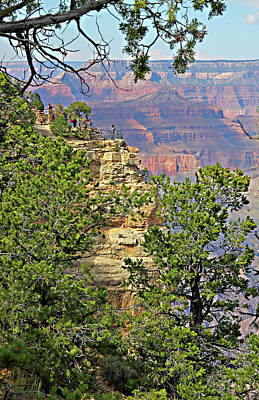 Ledge Photograph - Perspective Of Grand Canyon by Linda Phelps