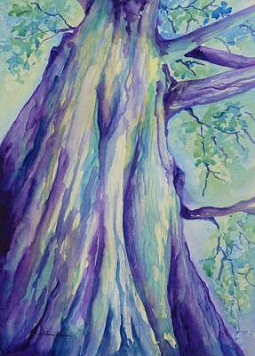 Tall Tree Painting - Perspective Tree by Gretchen Bjornson