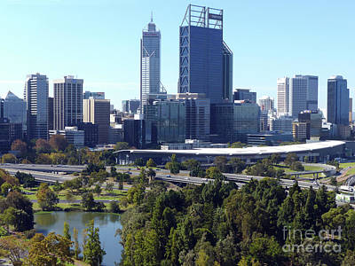 Photograph - Perth City From Kings Park by Phil Banks