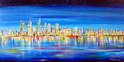 Painting - Perth Skyline On The Swan by Roberto Gagliardi