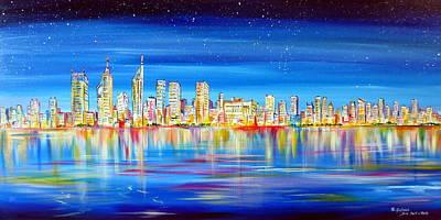 Painting - Perth Skyline On The Swan by Roberto Gagliardi