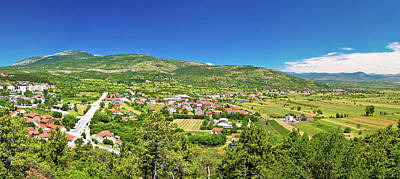 Photograph - Pertovo Polje Near Drnis Panoramic View by Brch Photography