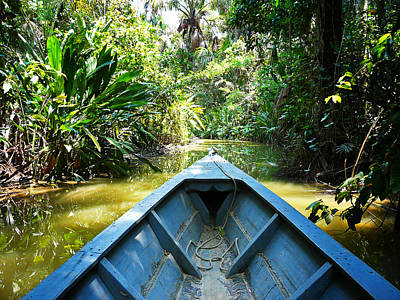 Amazon River Photograph - Peru Amazon Boat by Photo, David Curtis
