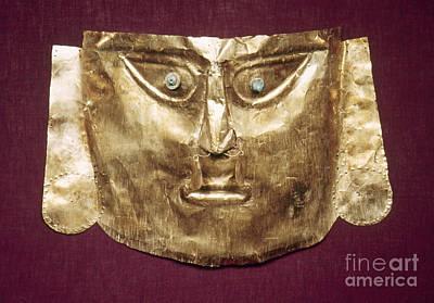 Photograph - Peru: Chimu Gold Mask by Granger