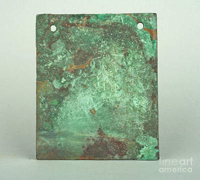 Plaque Painting - Peru Copper  by MotionAge Designs