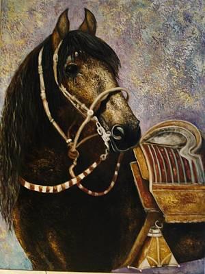 Peruvian Horse Painting - Peruano by Daniella Arteaga Vallarino Artist