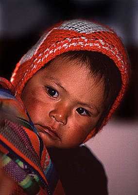 Photograph - Peruvian Baby by Roger Lever