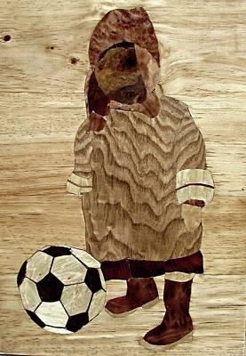 Peruvian Boy With Ball Original