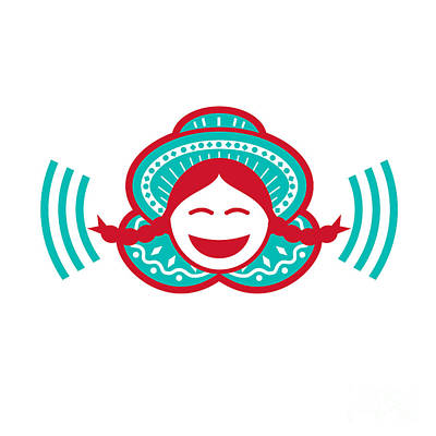 Nirvana - Peruvian Girl Smiling Voice Icon by Aloysius Patrimonio