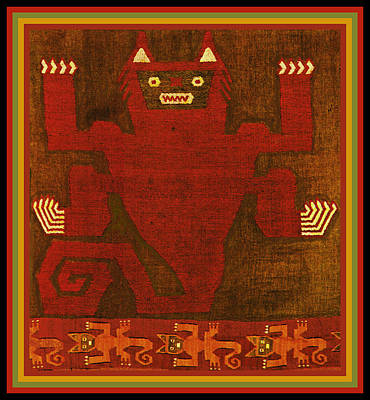 Digital Art - Peruvian Inca Demon Spirit by Vagabond Folk Art - Virginia Vivier