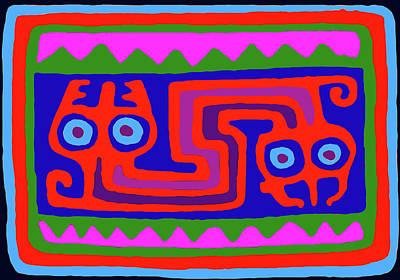 Digital Art - Peruvian Inca Serpent by Vagabond Folk Art - Virginia Vivier
