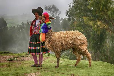 Photograph - Peruvian Llama by John Haldane