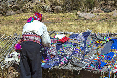 Photograph - Peruvian Man Making Display For Tourists by Patricia Hofmeester