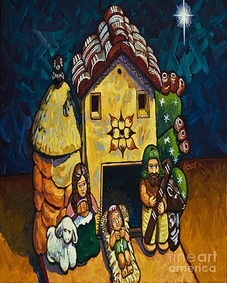 Painting - Peruvian Nativity - Lwpen by Lewis Williams OFS
