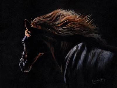 Painting - Peruvian Paso Horse by David Stribbling