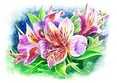 Lilies Royalty-Free and Rights-Managed Images - Peruvian Princess Lily by Irina Sztukowski