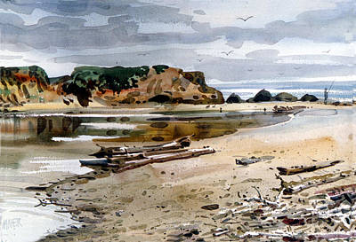 Painting - Pescadero Beach by Donald Maier