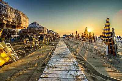 Photograph - Pescara Beach Sunrise by Randy Scherkenbach