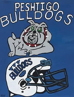 Peshtigo Bulldogs Art Print