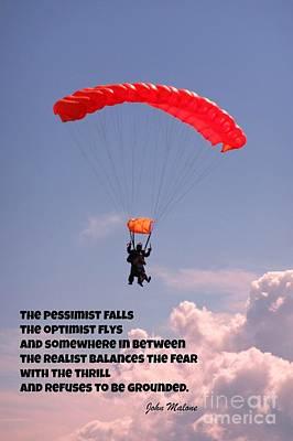 Pessimist Photograph - Pessimist Optimist And Realist by John Malone
