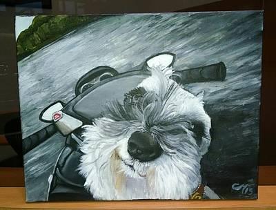 Jet Ski Painting - Pet Portrait by Christine Maeda
