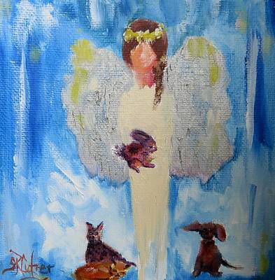 Painting - Pet Sitter by Sandra Reeves