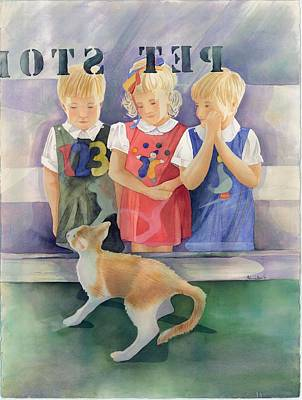 Wishful Thinking Painting - Pet Stop Pet Shop by Belinda Hamilton