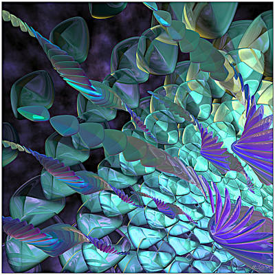 Glassware Digital Art - Petal Abstract by Peter J Sucy