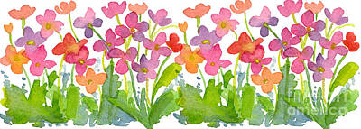 Painting - Petal Pink Wildflowers by Cathie Richardson