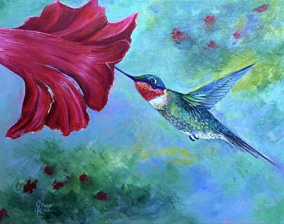 Painting - Petal Pusher by Jane Ricker