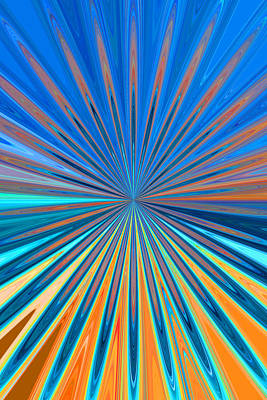 Color Painting - Petals 7 by Chris Butler
