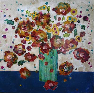 Mixed Media Florals Painting - Petals And Leaves No. 1 by Jane Spakowsky