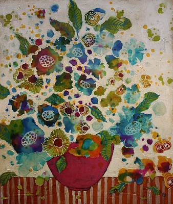 Mixed Media Still Life Painting - Petals And Leaves No. 5 by Jane Spakowsky