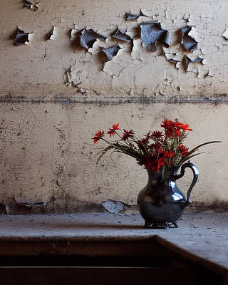 Petals And Peeling Paint - Preston Castle Art Print
