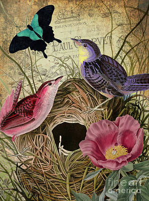 Petals And Wings IIi Print by Mindy Sommers