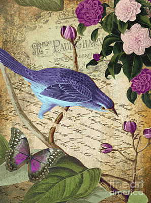 Birds Royalty-Free and Rights-Managed Images - Petals and Wings IV by Mindy Sommers