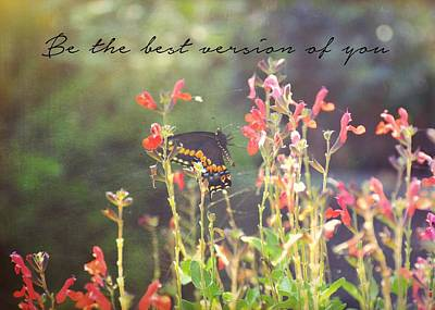 Photograph - Petals And Wings Quote by JAMART Photography