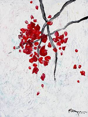 Painting - Petals Fall Softly by Kume Bryant