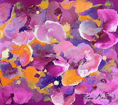 Digital Art - Petals Galore Abstract Painting by Lisa Kaiser
