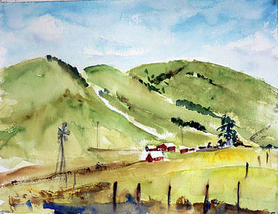 Painting - Petaluma Countryside by Tom Simmons