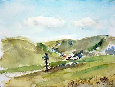 Painting - Petaluma Countryside1 by Tom Simmons